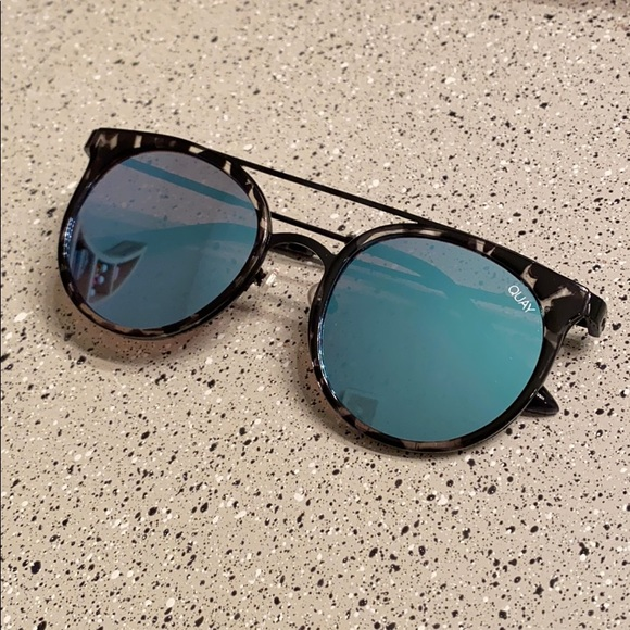 Quay Australia blue reflective sunglasses